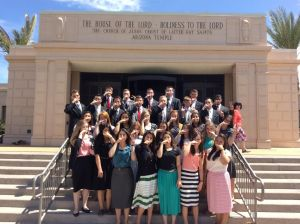 All of the Spanish missionaries in Mesa!